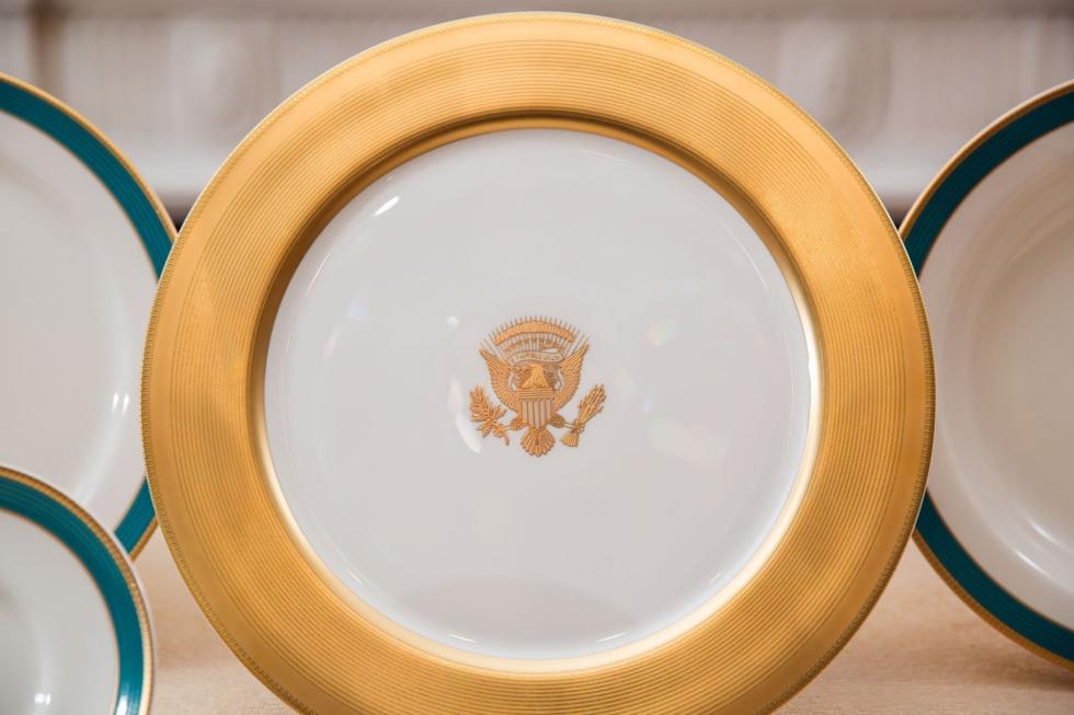 Obama china service plate